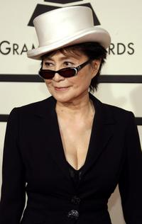 Yoko Ono at the 50th annual Grammy awards.