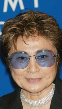 Yoko Ono at the 45th Annual Grammy Awards.