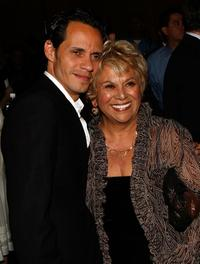 Lupe Ontiveros and Marc Anthony at the premiere of