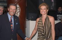 Jerry Orbach and Mariska Hargitay at the party for cast members of all three