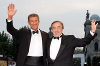 Ezio Greggio and Silvio Orlando at the 65th Venice Film Festival.