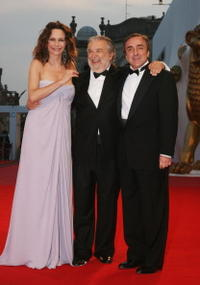 Francesa Neri, Pupi Avati and Silvio Orlando at the 65th Venice Film Festival.