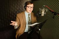 John Hodgman on the set of