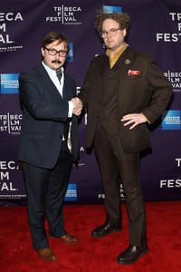 John Hodgman and Sean Nelson at the New York premiere of