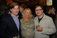 Dana Vachon, Shawn Simon and John Hodgman at the Anonymous Content's party.
