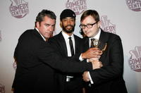 Jason Jones, Wyatt Cenac and John Hodgman at the Comedy Central's Primetime Emmy Awards.