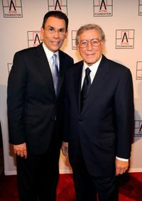 Jorge Ramos and Tony Bennett at the 2010 AFTRA AMEE Awards.