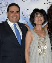 Elias Antonio Saca Gonzalez and Dyana Ortelli at the cocktail party of