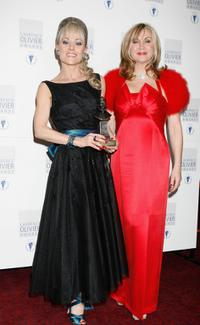 Tracie Bennett and Lesley Garrett at the Laurence Olivier Awards.