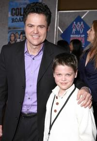 Donny Osmond and Joshua Osmond at the world premiere of