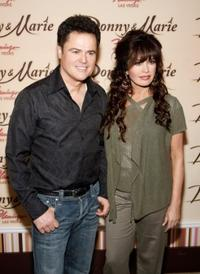 Donny Osmond and Marie Osmond at the Donny and Marie variety show.