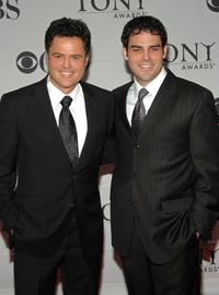 Donny Osmond and Donny Osmond Jr. at the 61st Annual Tony Awards.
