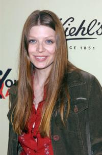 Amber Benson at the Kiehl's grand opening celebration toasting YouthAIDS.