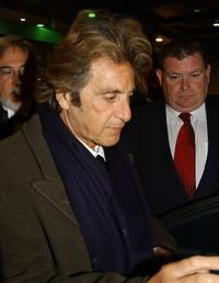 Al Pacino at the Trinity College to receive an Honorary Patronage of the Society.