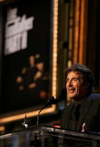 Al Pacino accepts his life achievement award during the 35th AFI Life Achievement Award.