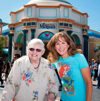 Pat Carroll and Jodi Benson at the all-new attraction