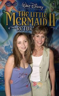 Tara Charendoff and Jodi Benson at the premiere of