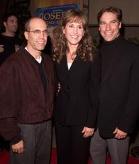 Jeffrey Katzenberg, Jodi Benson and her husband Ray at the premiere of