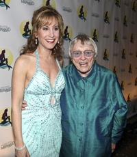 Jodi Benson and Pat Carroll at the after party to celebrate the opening night of Broadway's