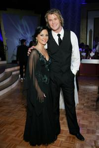 Abbey Ross and Chris Hemsworth at the Dancing With The Stars after show drinks party.