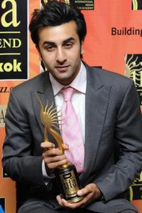 Ranbir Kapoor at the International Indian Film Academy (IIFA) Awards 2008 ceremony.