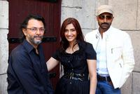 Director Rakeysh Mehra, Sonam Kapoor and Abhishek Bachchan at the 5th Annual Dubai International Film Festival.