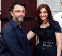 Director Rakeysh Mehra and Sonam Kapoor at the 5th Annual Dubai International Film Festival.