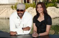 Abhishek Bachchan and Sonam Kapoor at the 5th Annual Dubai International Film Festival.