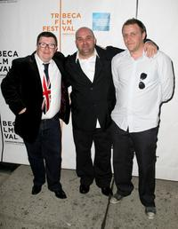 Perry Benson, Director Shane Meadows and Paul Fraser at the premiere of