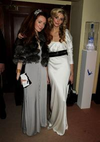 Olivia Grant and Tasmin Egerton at the after party of BAFTA Soho House Grey Goose.