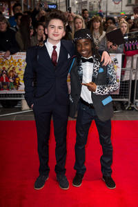 Theo Stevenson and Akai Osei at the UK premiere of