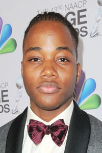 Leon Thomas III at the 43rd NAACP Image Awards in California.
