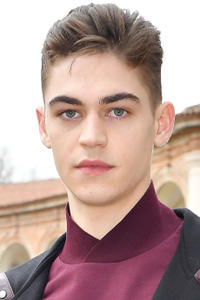 Hero Fiennes at the Salvatore Ferragamo show during Milan Fashion Week.