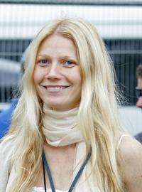 Gwyneth Paltrow at the Glastonbury Music Festival 2005.