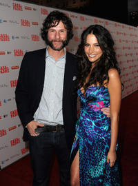 Director Matt Piedmont and Genesis Rodriguez at the California premiere of