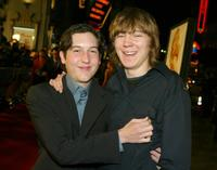 Chris Marquette and Paul Dano at the world premiere of