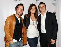 Chris Marquette, Gloria Votsis and Jason Ritter at the screening of
