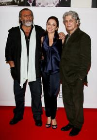 Diego Abatantuono, Carla Signoris and Fabrizio Bentivoglio at the premiere of