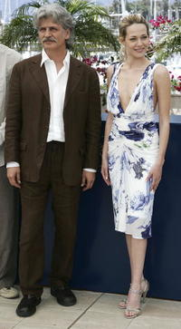 Fabrizio Bentivoglio and Laura Chiatti at the photocall of