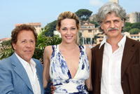 Giacomo Rizzo, Laura Chiatti and Fabrizio Bentivoglio at the photocall of