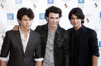 Nick Jonas, Kevin Jonas and Joe Jonas at the Disney's Concert of Hope benefiting the City of Hope.