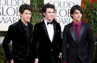 Nick Jonas, Kevin Jonas and Joe Jonas at the 66th Annual Golden Globe Awards.