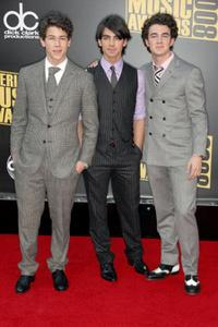 Nick Jonas, Joe Jonas and Kevin Jonas at the 2008 American Music Awards.