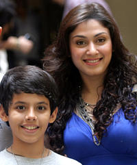 Darsheel Safary and Manjiri Phadnis at the promotional event of