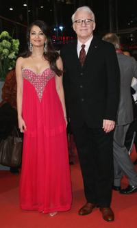 Aishwarya Rai Bachchan and Steve Martin at the premiere of