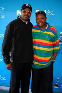 Dale and Denzel Whitaker at the 39th Annual NAACP Image Awards.