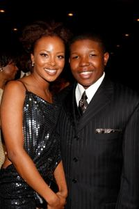 Eva Pigford and Denzel Whitaker at the 39th NAACP Image Awards.