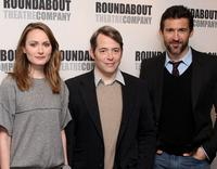 Anna Madeley, Matthew Broderick and Jonathan Cake at the photocall of