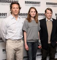 Steven Weber, Anna Madeley and Matthew Broderick at the photocall of