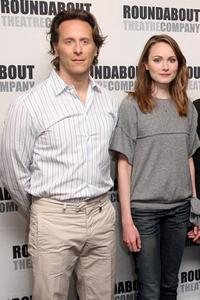 Steven Weber and Anna Madeley at the photocall of